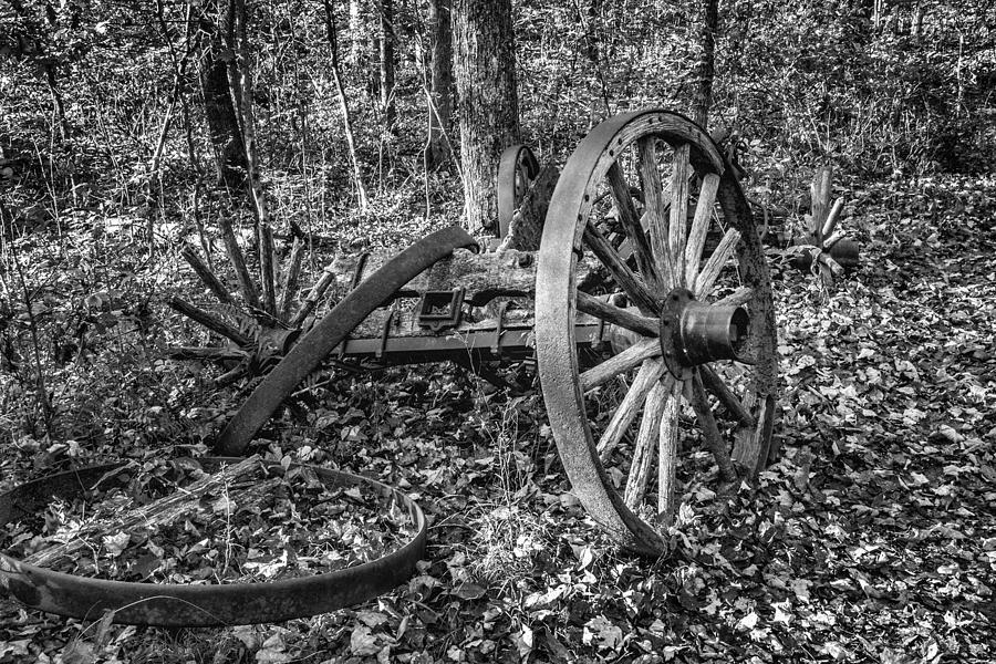 Wheel Photograph - Forgotten Wagon by Tom Mc Nemar