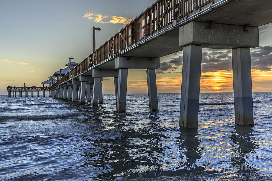 Christmas Photograph - Fort Myers Beach Fishing Pier by Edward Fielding
