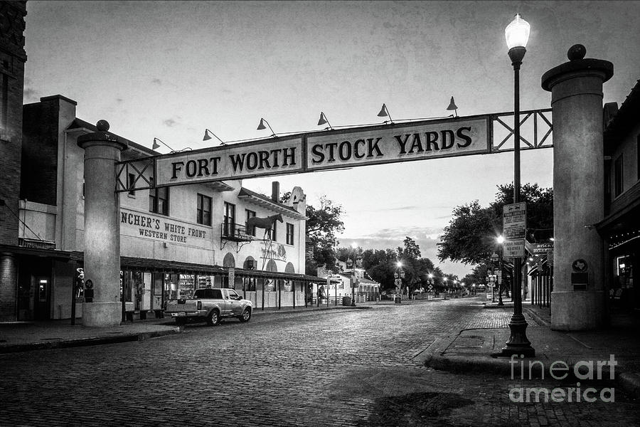 Fort Worth Stockyards Bw Photograph