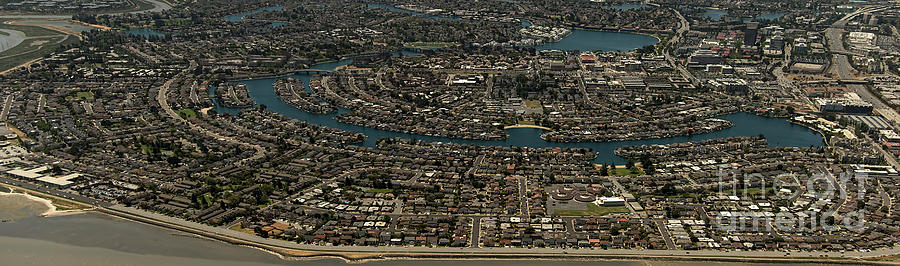 Foster City Photograph - Foster City, California Aerial Photo by David Oppenheimer