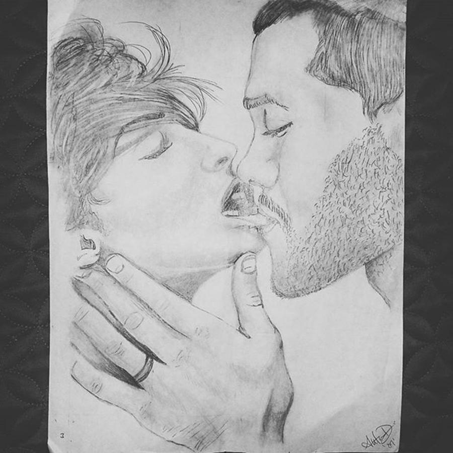 Drawing Drawing - Make Me Lose My Breath by Autumn Leaves Art
