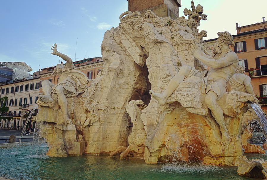 Italy Photograph - Four Rivers Fountain by JAMART Photography