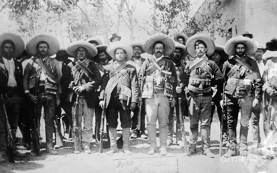 Bandolier Photograph - Francisco Pancho Villa by Granger