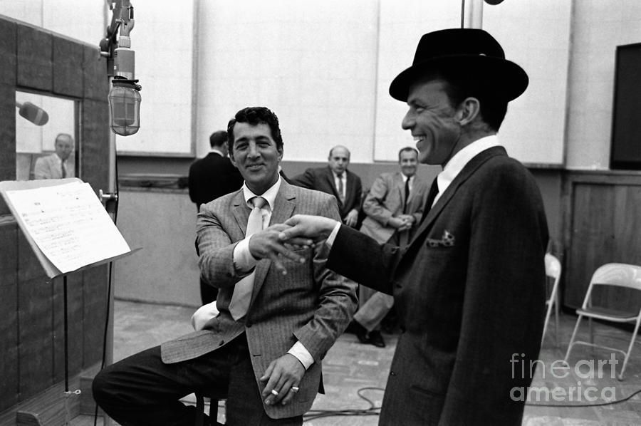 Frank Sinatra And Dean Martin At Capitol Records Studios