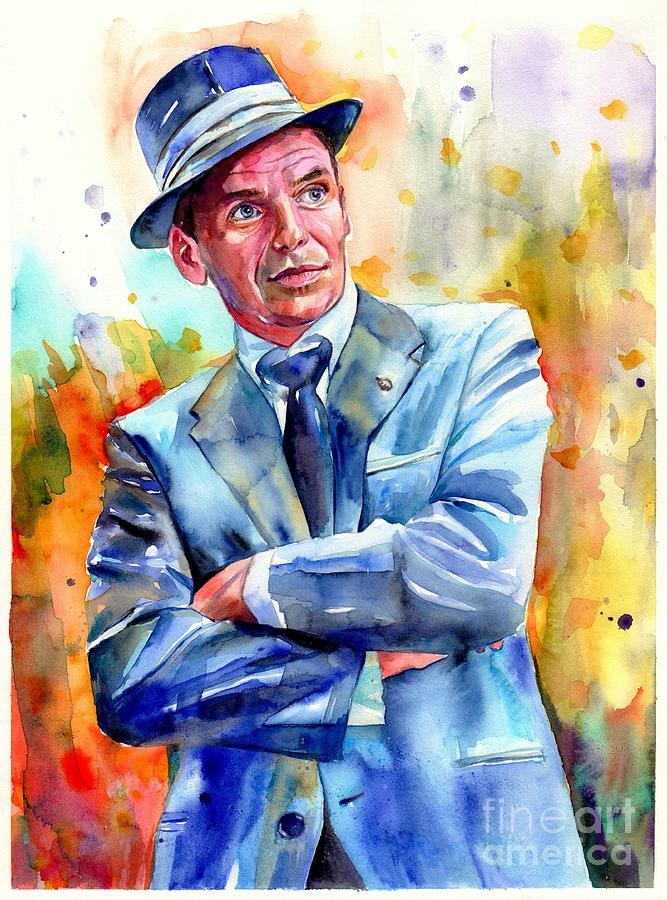 Frank Painting - Frank Sinatra Young Painting by Suzann Sines