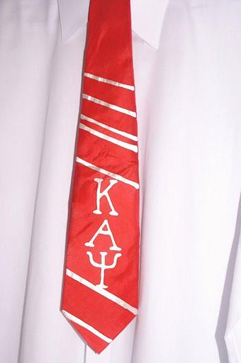 Silk Tie Painting - Fraternity Tie by Christine  Davis