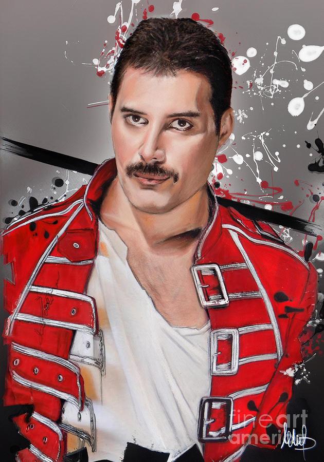Freddie Mercury Pastel - Freddie Mercury by Melanie D