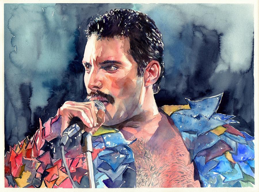 Freddie Painting - Freddie Mercury portrait by Suzann Sines