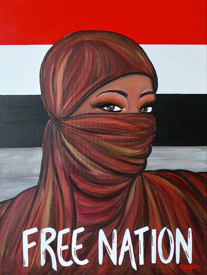 Free Nation 3 Painting by Art By Naturallic