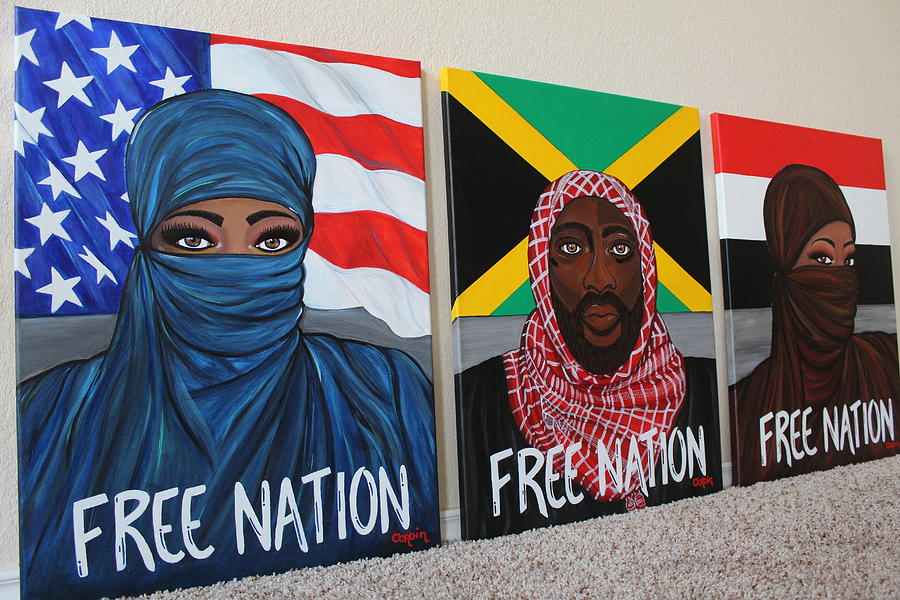 Free Nation Series Painting by Art By Naturallic
