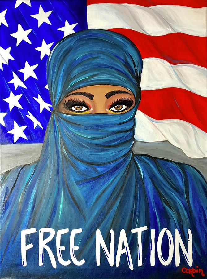 Free Nation 1 Painting by Art By Naturallic