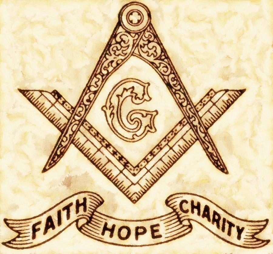 Freemason Painting - Freemason Symbolism By Pierre Blanchard by Pierre Blanchard