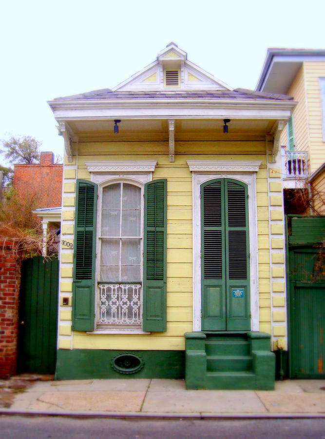 French Quarter Bungalow Photograph by Ted Hebbler