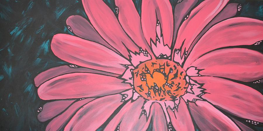 Gerber Daisy Painting - Fresh by Holly Donohoe