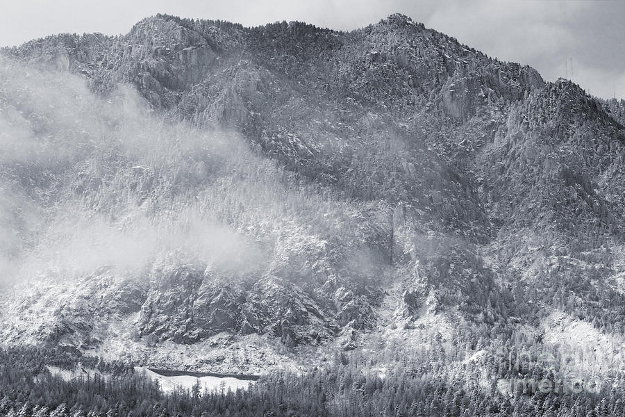 Mist And Snow On Cheyenne Mountain Colorado Photograph