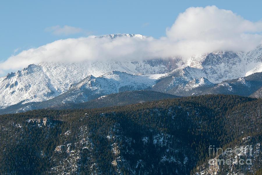 Fresh Snow On Pikes Peak Colorado Photograph