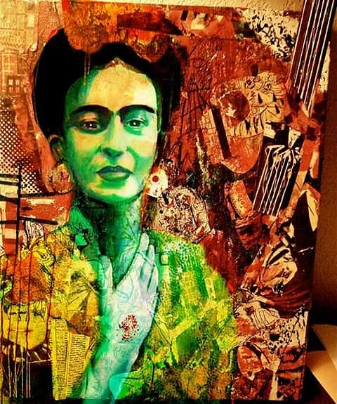 Portrait Mixed Media - Frida by Amy Lindemann