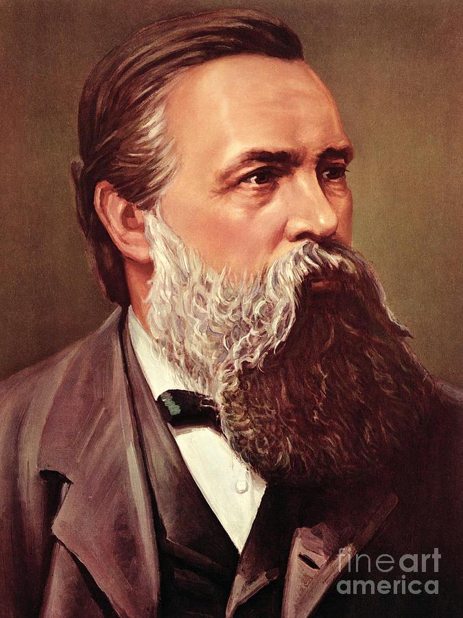 Friedrich Engels Painting By German School