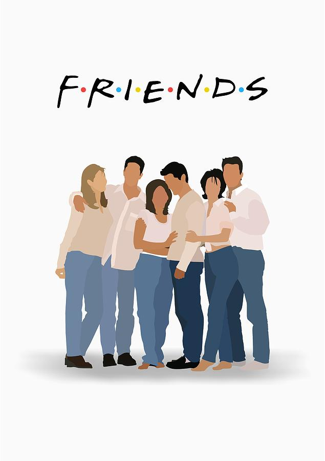 Friends Serial Minimalist Poster Digital Art By Lab No 4 The