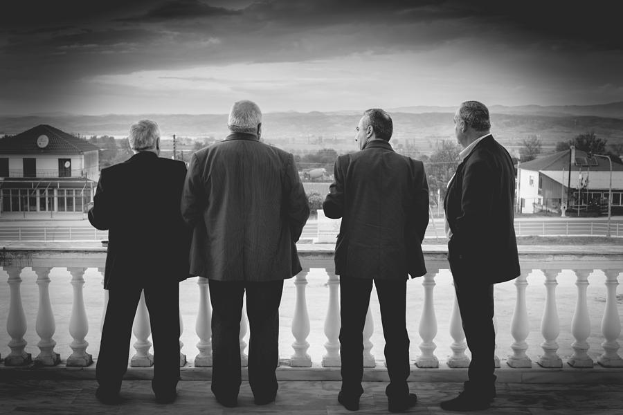 Back Photograph - Friends by Sotiris Filippou