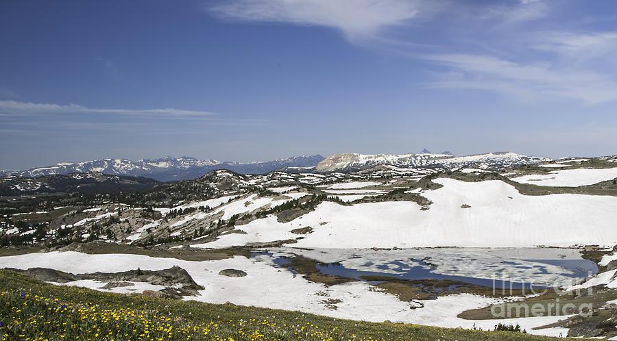 Frozen Lake  Beartooth Highway by Gary Beeler