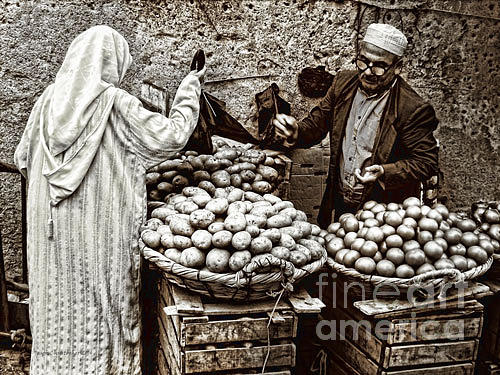 Fruit Photograph - Fruit And Veg Seller by Jason Christopher