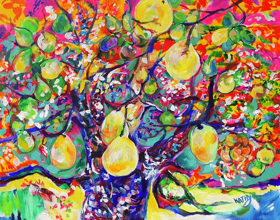 Fruit Full Vibrations Painting by Kathy Hauge