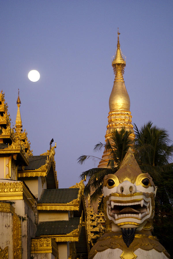 Burma Photograph - Full Moon In Burma by Michele Burgess