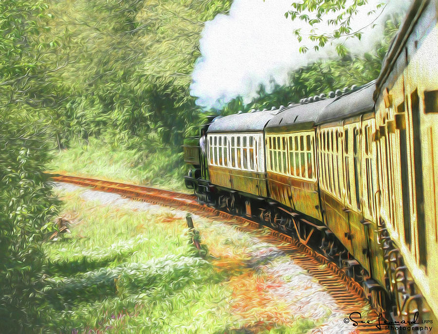 Painted effect - Full steam ahead by Susan Leonard