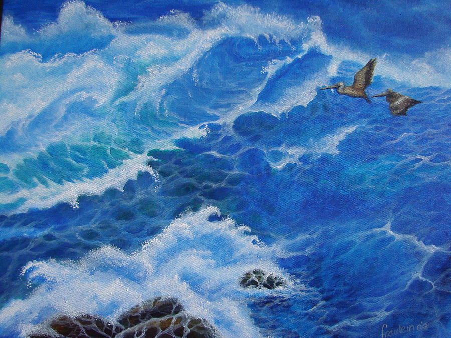 Seascape Painting - Fusion by Glory Fraulein Wolfe