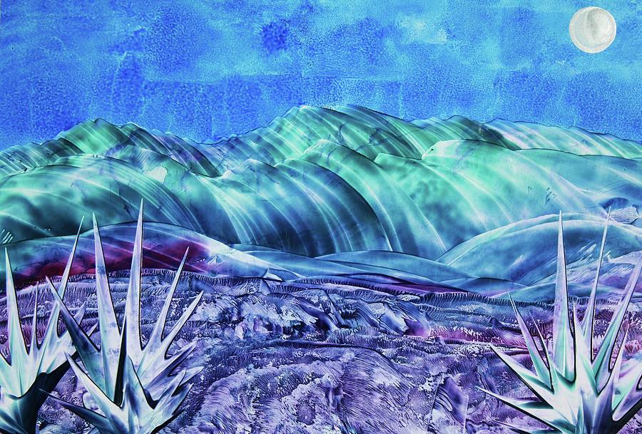 Encaustic Painting - Gallup by Melinda Etzold