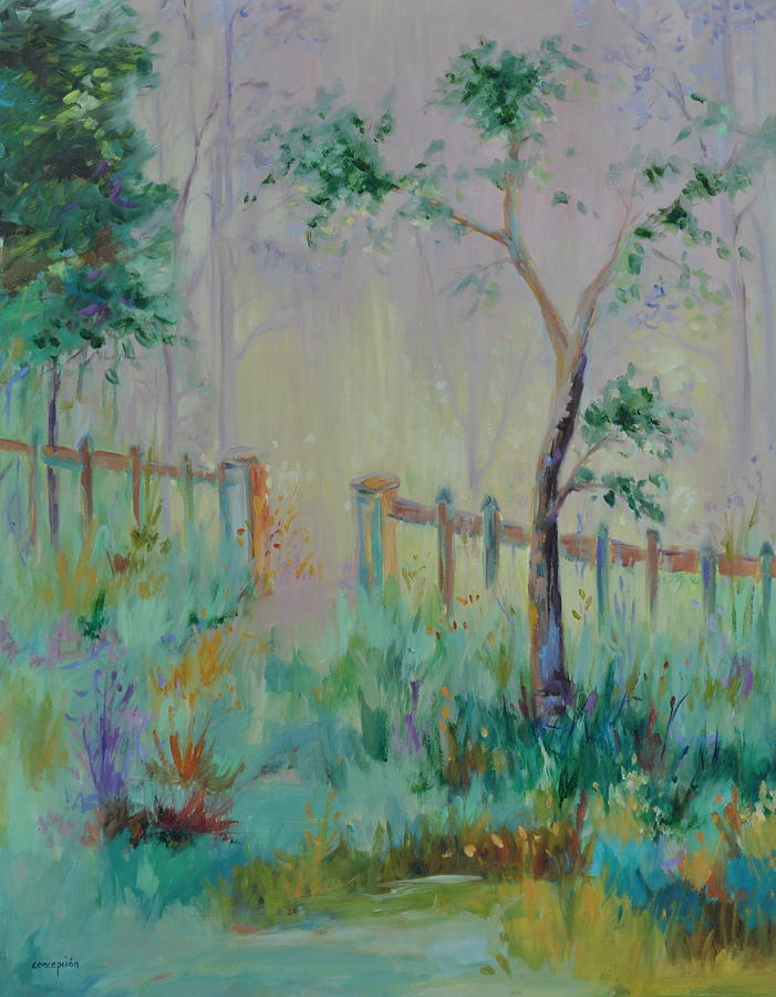 Garden Painting - Garden And Beyond by Ginger Concepcion