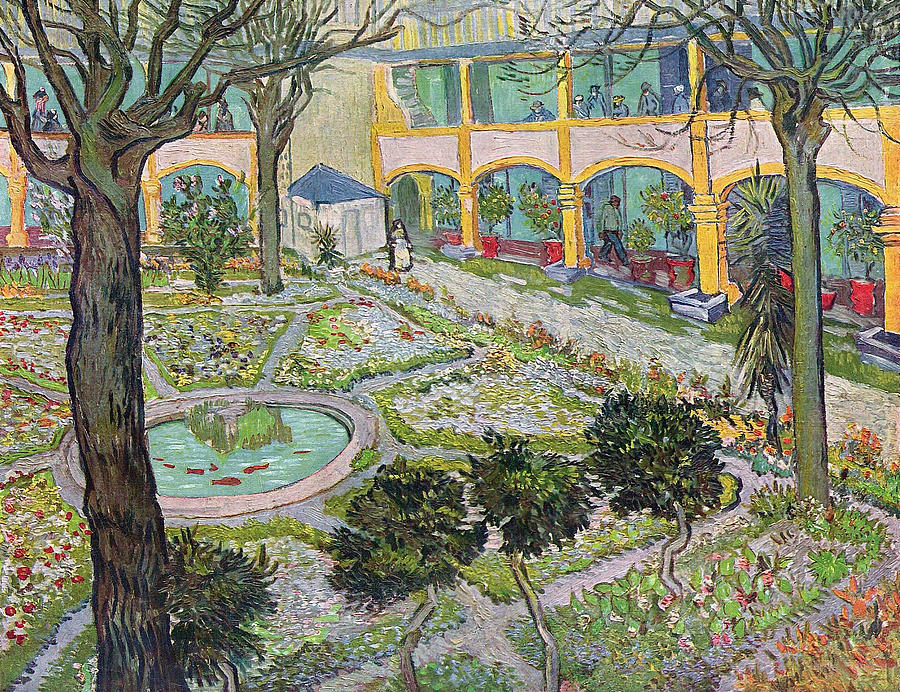 Perfect Architectural Painting   Garden Of The Hospital In Arles By Vincent Van Gogh
