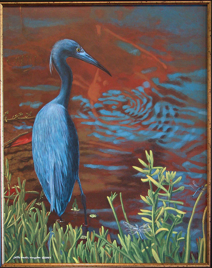 Waterfowl Painting - Gazing Intently by Peter Muzyka