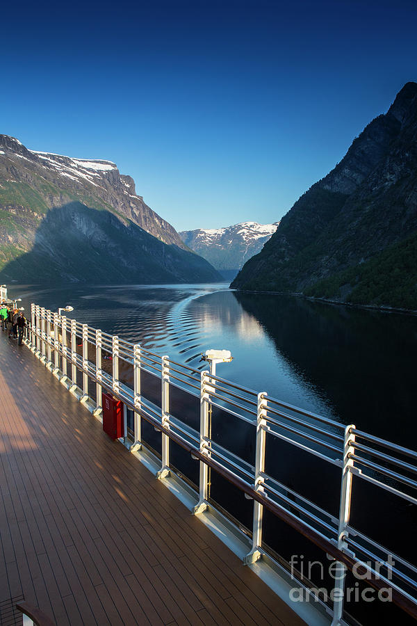 Landscape Photograph - Geiranger Fjord With Queen Victoria In Foreground by Sheila Smart Fine Art Photography
