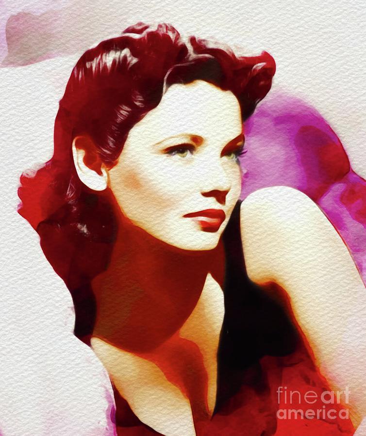 Gene Tierney Vintage Movie Star Painting By Esoterica Art Agency