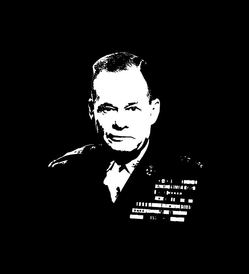 Chesty Puller Digital Art - General Lewis Chesty Puller by War Is Hell Store