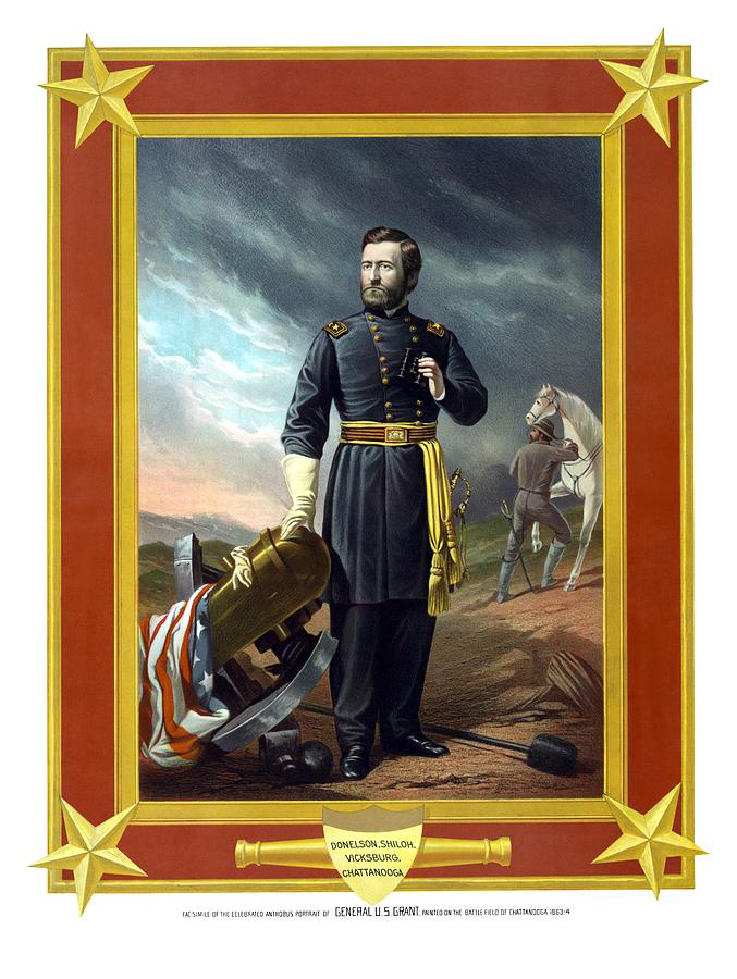 Civil War Painting - General Us Grant by War Is Hell Store