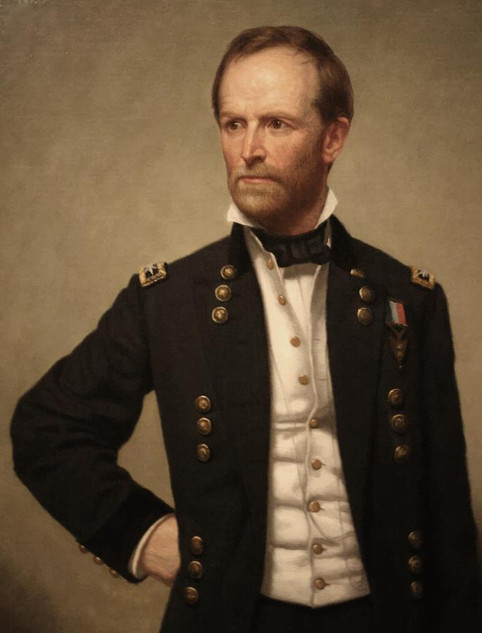 General Sherman Painting - General William Tecumseh Sherman by War Is Hell Store