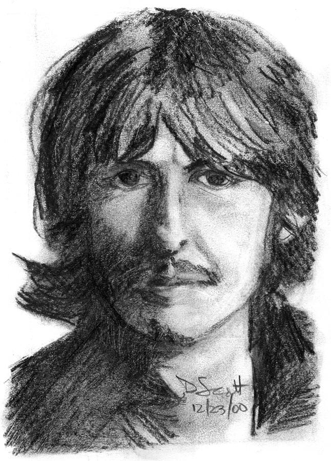 Beatles Drawing - George Harrison by Daniel Scott