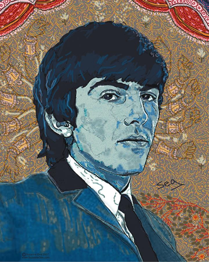 George Harrison Painting - George Harrison by Suzanne Gee