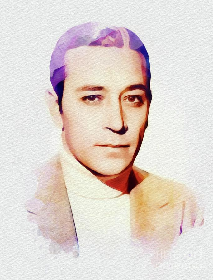George Painting - George Raft, Hollywood Legend by John Springfield