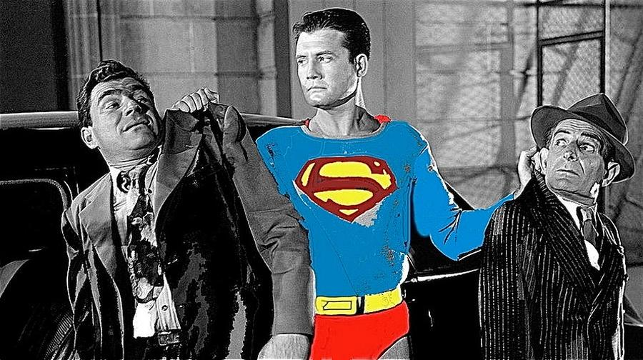 George Reeves As Superman In His 1950's Tv Show Apprehending Two Bad  Guys,1953-2010 by David Lee Guss