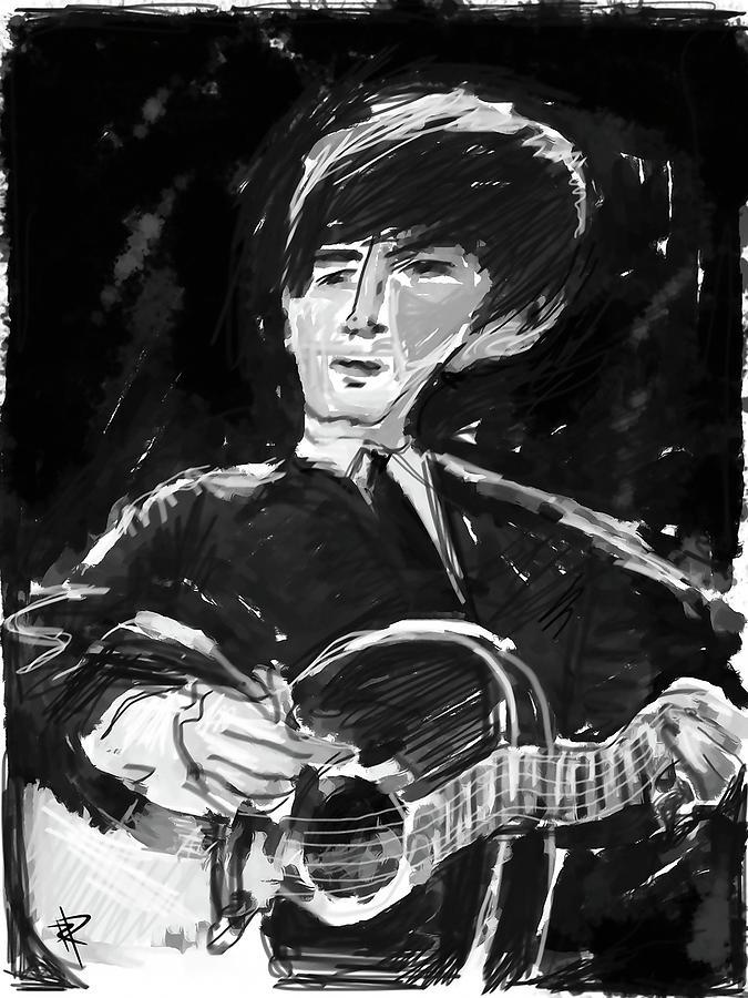 George Harrison Digital Art - George by Russell Pierce