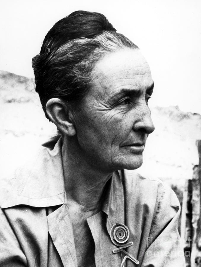 1962 Photograph - Georgia Okeeffe (1887-1986) by Granger