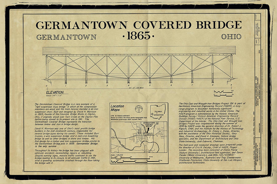Germantown Covered Bridge Photograph