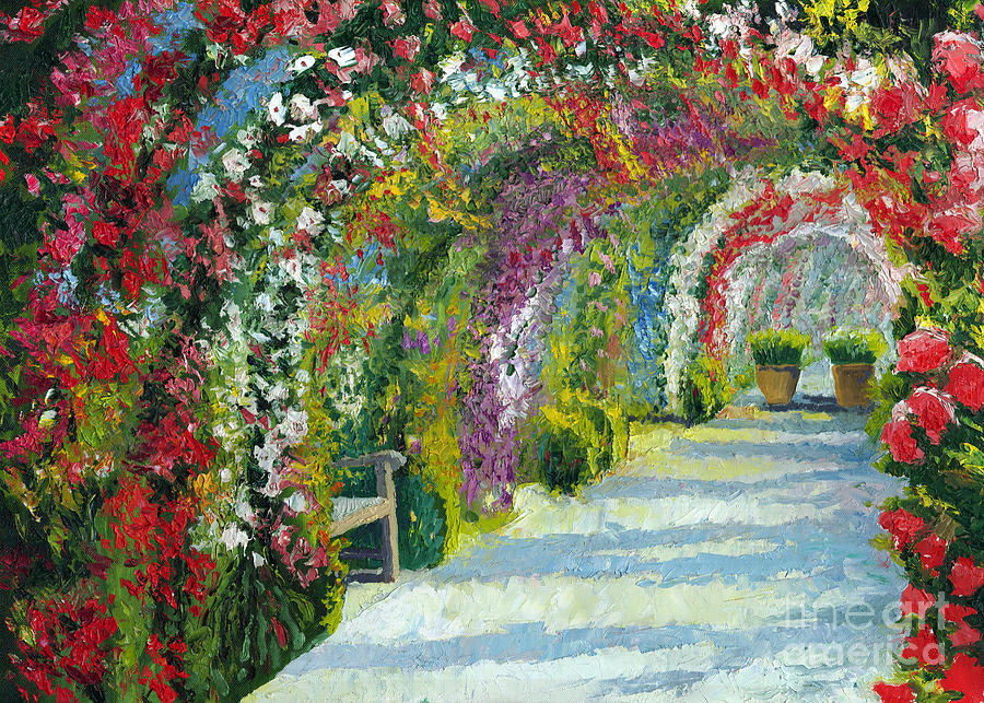 Oil Painting - Germany Baden-baden Rosengarten by Yuriy Shevchuk