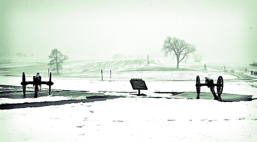 Gettysburg Battlefield Cannons Photograph by Sam Turgeon