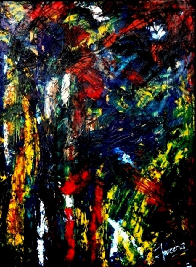 Abstract Painting - Ghost Of Us by Fareeha Khawaja