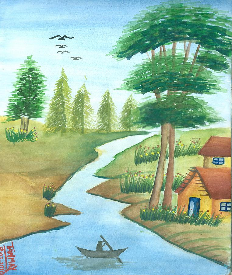 Natural Gift Painting - Gift Of Nature by Tanmay Singh